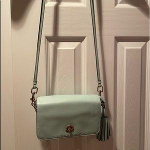 Coach mint green shoulder/crossbody bag